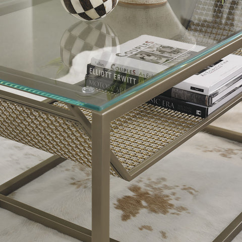 contemporary gold coffee table