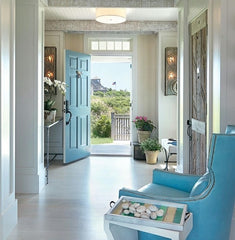 turquoise interior accents