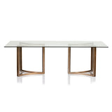 Rectanglular Glass Dining Table