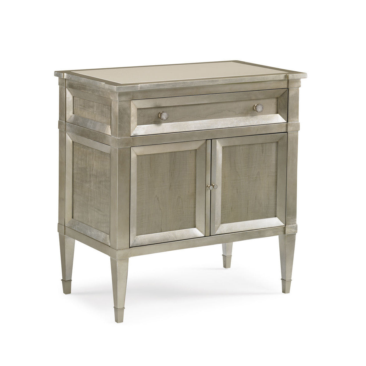 LIANA TAUPE SILVER LEAF NIGHTSTAND