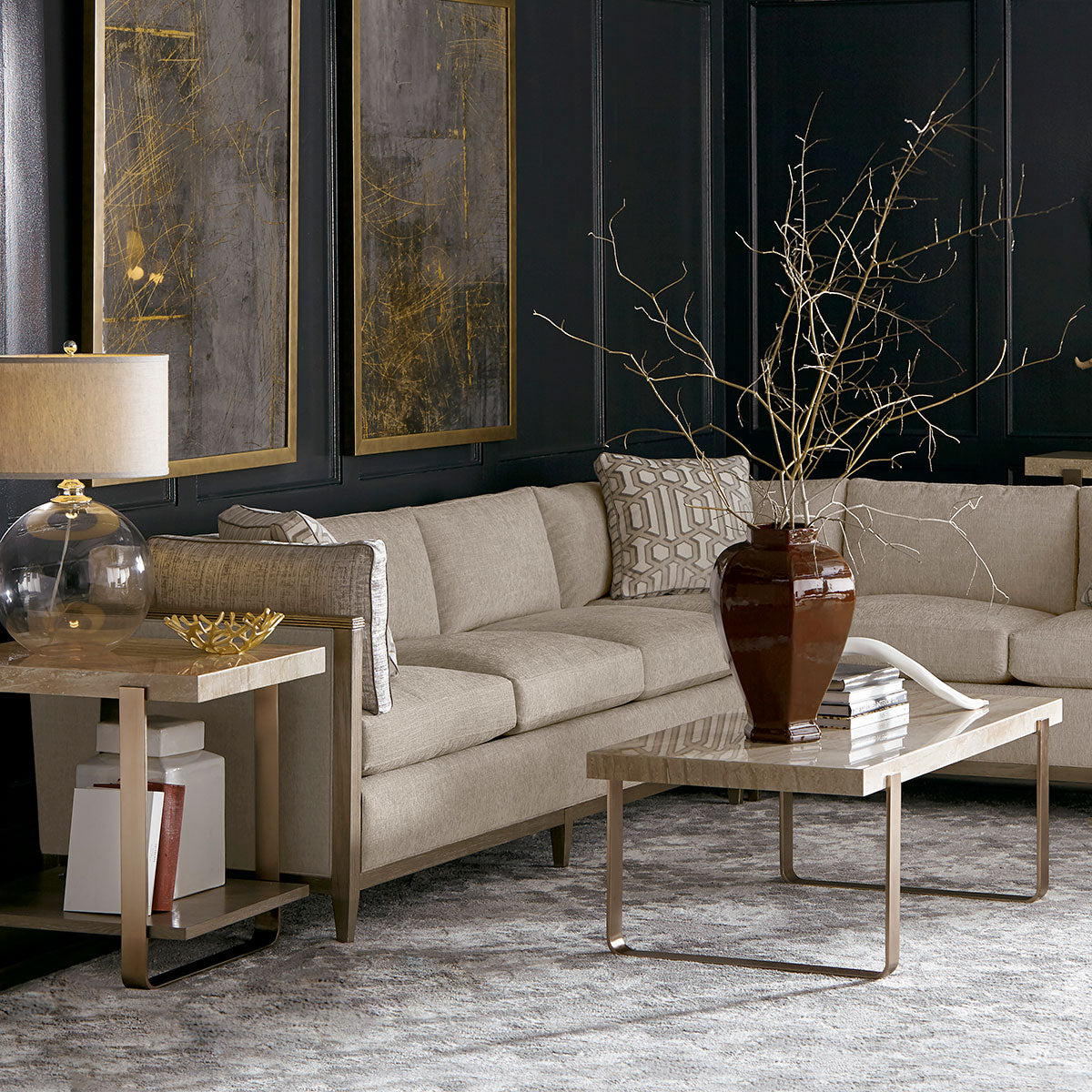 Travertine Slab Coffee Table: CAROLINA TRAVERTINE COFFEE TABLE