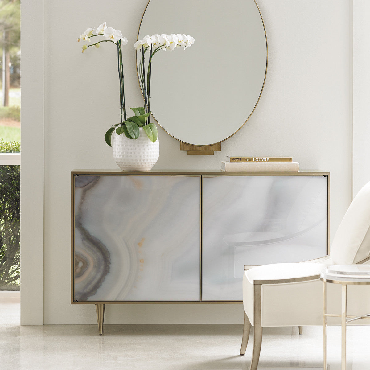 Mirrored Coffee Table Melbourne: Cooper Agate Accent Chest