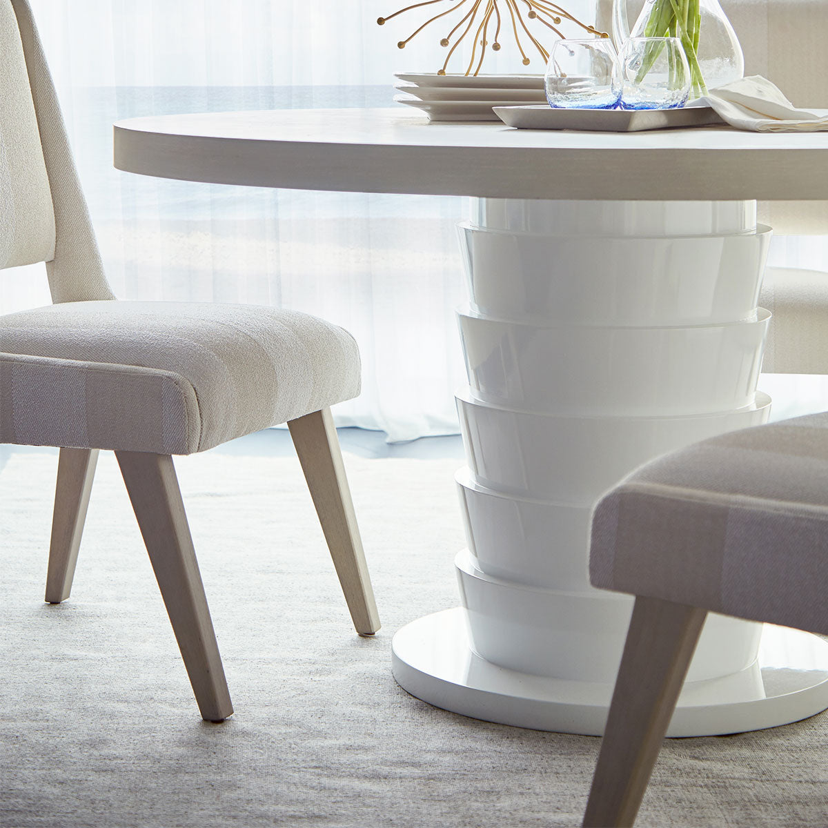Remarkable Miami Round Dining Table Interior Design Ideas Philsoteloinfo