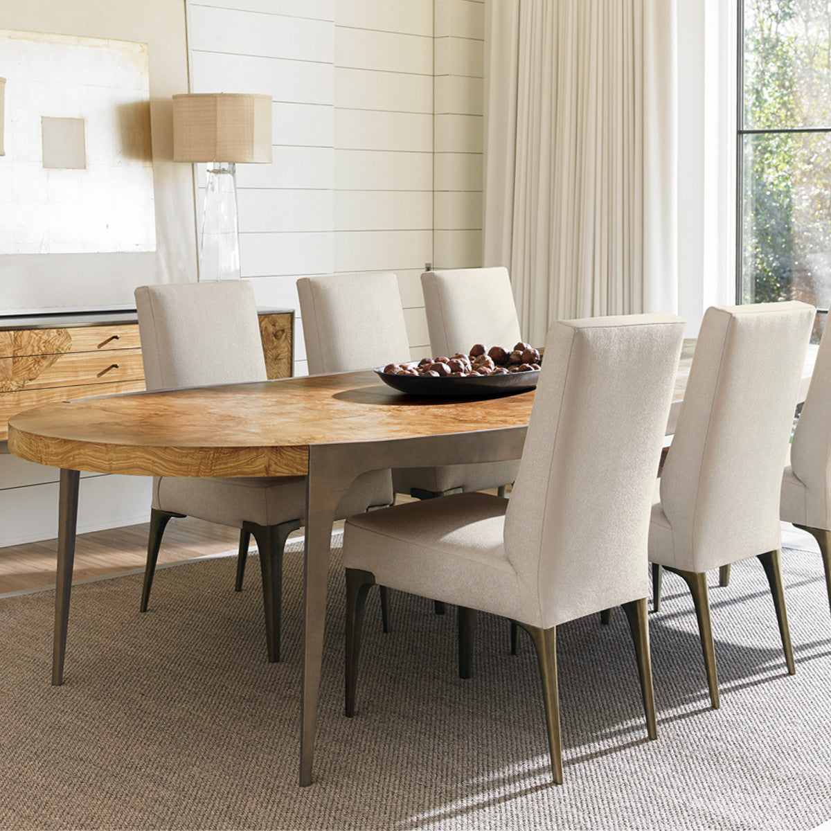 TORRANCE OVAL EXTENSION DINING TABLE - Torrance dining table