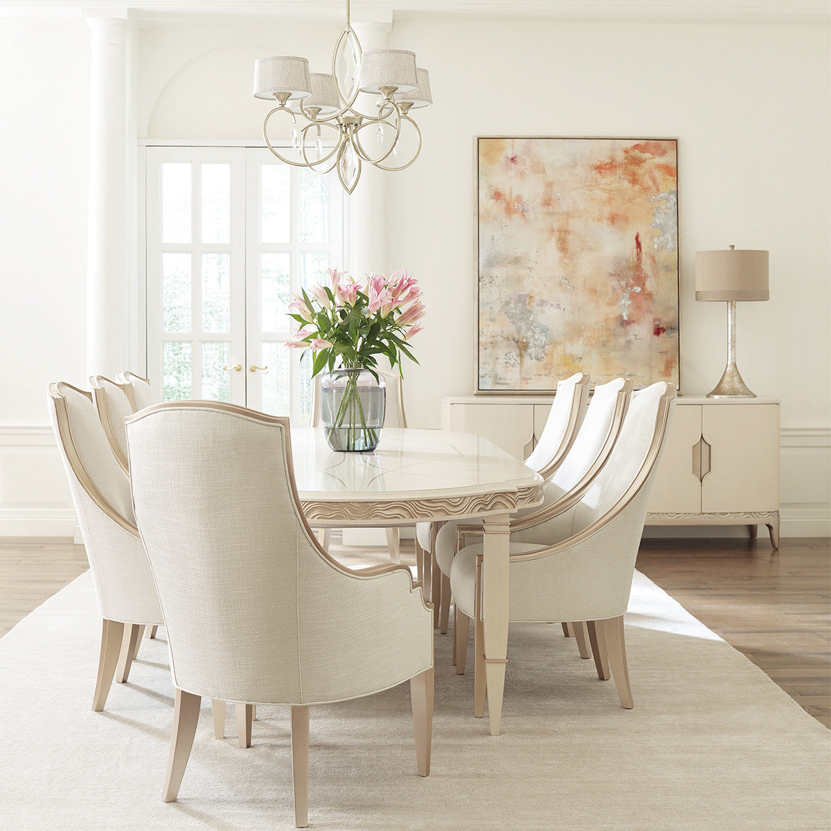 OPEY GOLD FRAME DINING CHAIR