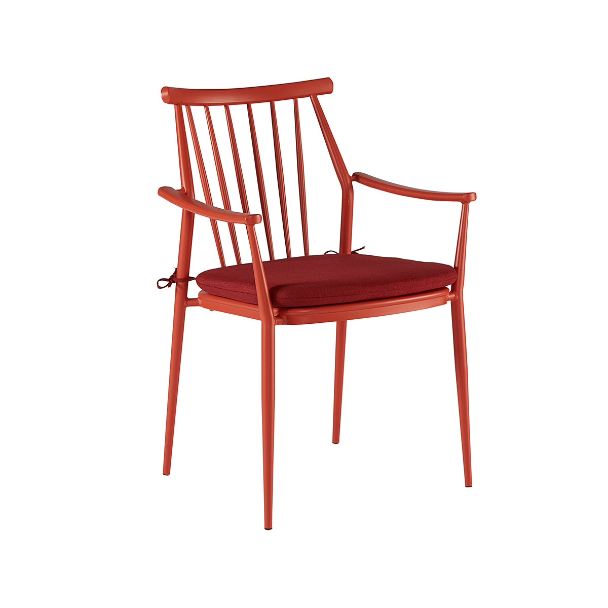 Parker Outdoor Dining Chair Red Pair