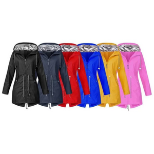 Women's Waterproof Raincoat - UK Sizes 12-18 & 6 Colours!