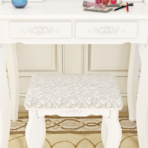 Dressing Table with Cushioned Stool