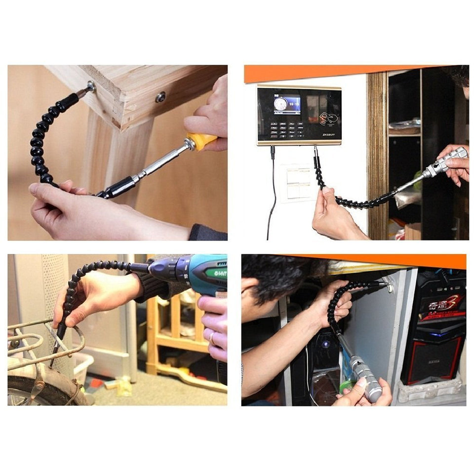 Flexible screwdriver extension