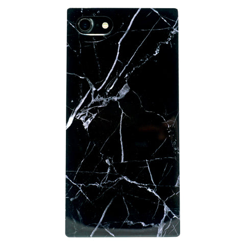 iPhone - Glossy Square Granite Marble - Black