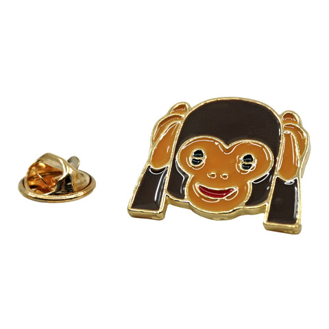 Monkey Eyes Emoji Metal Enamel Pin