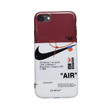 iPhone - Off-White Nike Swoosh - Red/White