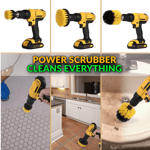 Power Scrubber Brushes (3 pcs set)