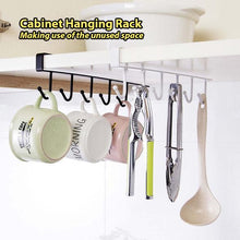 Load image into Gallery viewer, Cabinet Hanging Rack (6 Hooks)