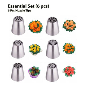 Gorgeous Flower Shaped Tips, Cake or Dessert Decorating Tool Set