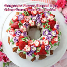 Load image into Gallery viewer, Gorgeous Flower Shaped Tips, Cake or Dessert Decorating Tool Set