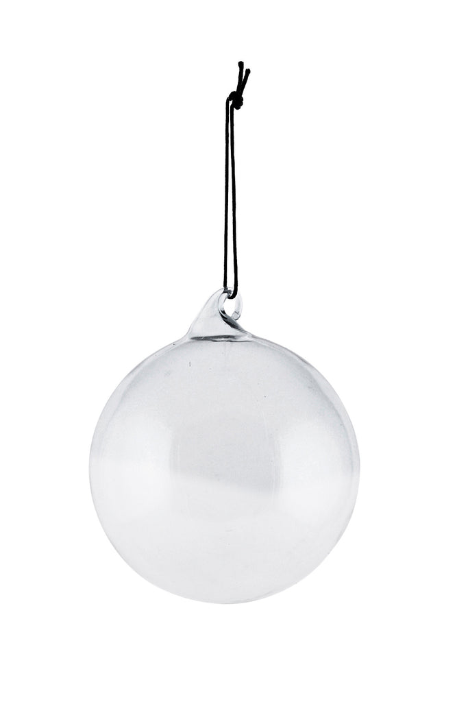 House Doctor Ornament All glass Light Grey 12 cm