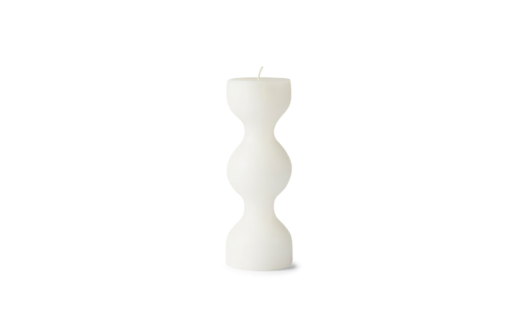 Normann Copenhagen Tivoli Block Candle Phare White