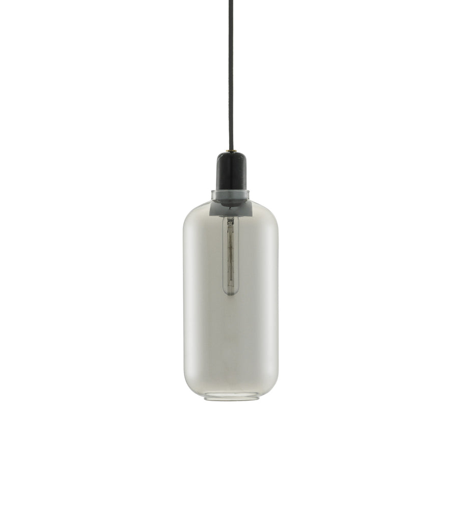 Normann Copenhagen Amp lampe smoke/sort large