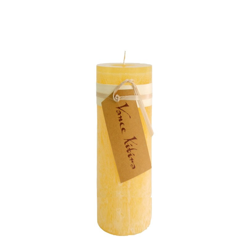 Lübech Living Timber Candle lys pale yellow højde 20 cm