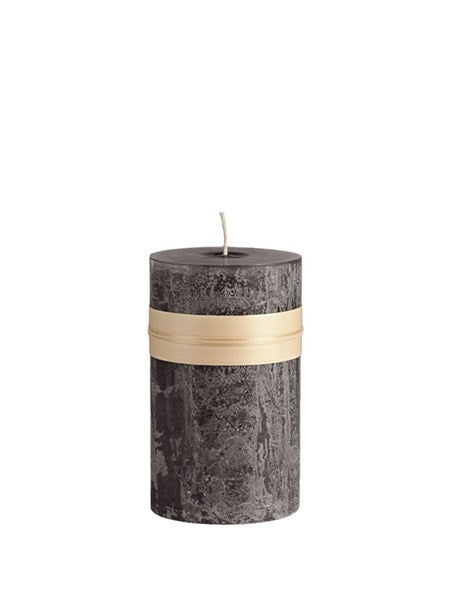 Lübech Living Timber Candle lys Charcoal højde 15 cm