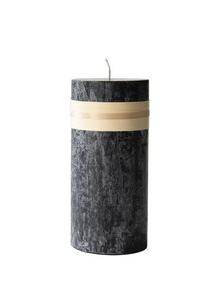 Lübech Living Timber Candle lys sort højde 23 cm