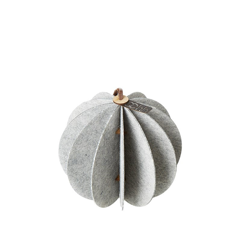 Lübech Living Hanging Felt Xmas ball White 14 cm