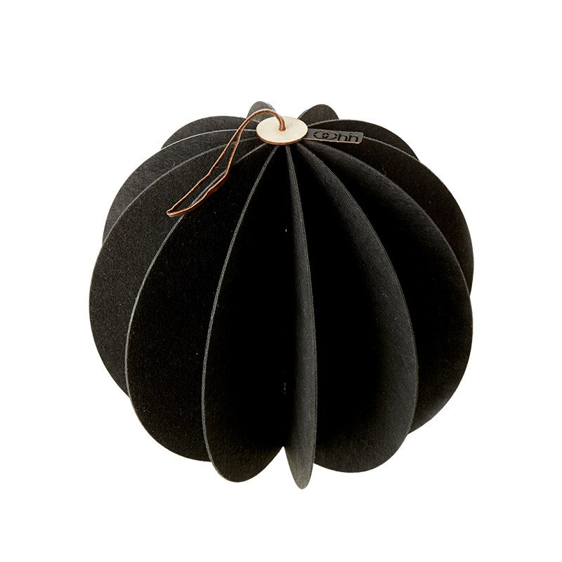 Lübech Living Hanging Felt Xmas ball Black 28 cm