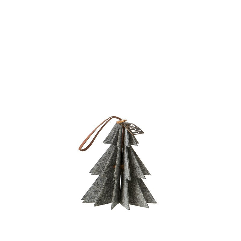 Lübech Living Felt Tree ornament hanging grey