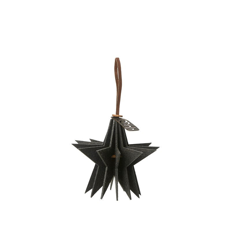 Lübech Living Felt Star ornament hanging black