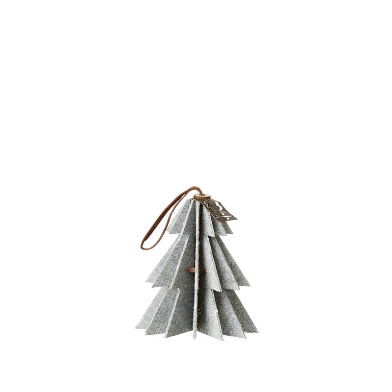 Lübech Living Felt Tree ornament hanging white