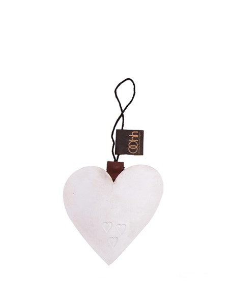 Lübech Living Heart Ornament padded xmas hvid