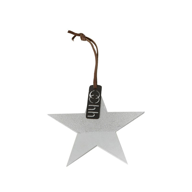 Lübech Living Star Ornament Half Sanded Grey