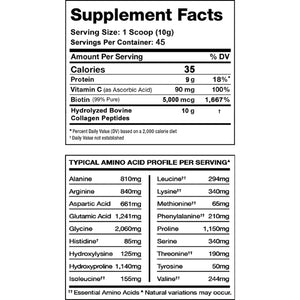 TC Nutrition Enhanced Collagen Peptides 450g Unflavored