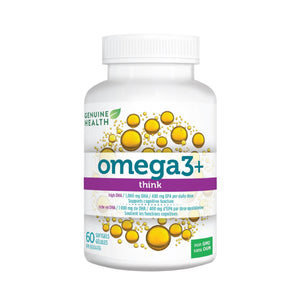 Genuine Health Omega+ THINK 60 softgels-HERC'S Nutrition Online