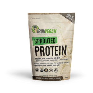 Iron Vegan Sprouted Protein 500g Chocolate-HERC'S Nutrition Online
