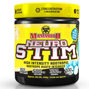 Mammoth Neuro Stim 60 serving Clear Raspberry-HERC'S Nutrition Online