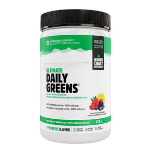 North Coast Naturals Ultimate Daily Greens 270g Mixed Berry & Citrus Burst-HERC'S Nutrition Online