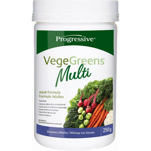 Progressive VegeGreens Multi 250g Blueberry Medley-HERC'S Nutrition Online