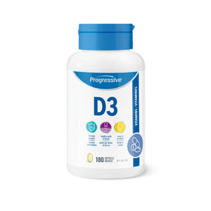 Progressive Vitamin D3 180 softgel-HERC'S Nutrition Online