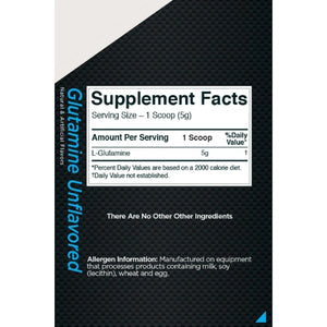 Rule1 Glutamine 150 servings Unflavored-HERC'S Nutrition Online