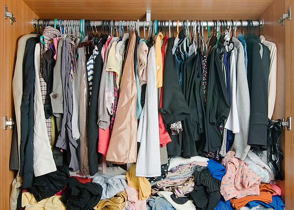 Messy closet wardrobe clothes moth larvae clothes moths_1