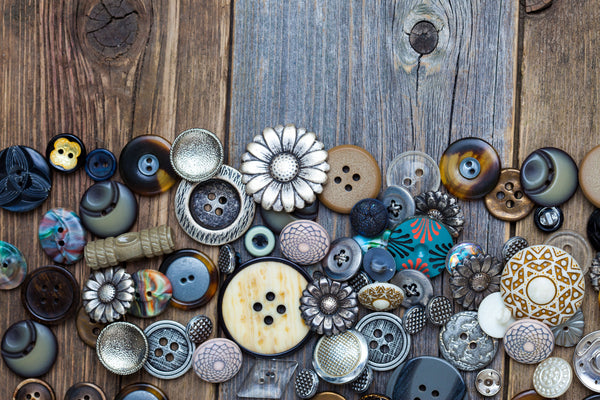 a selection of vintage buttons