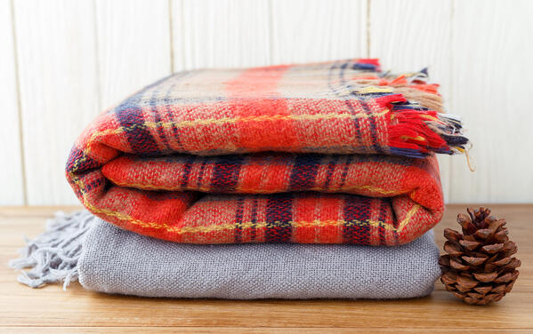 folded soft throws