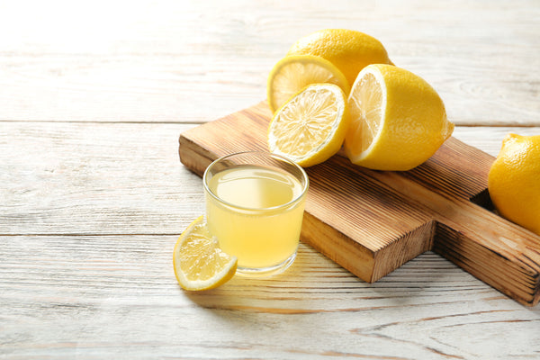 lemon juice mixed with warm water will make a gentle stain remover