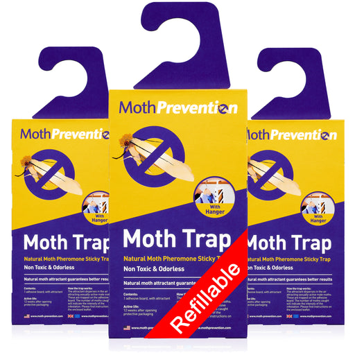 Clothes Moth Traps | 3 Pack | Powerful & Proven Best Catch-Rates in the UK