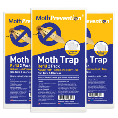 High-Performance Clothes & Carpet Moth Trap Refills - 6 Pack