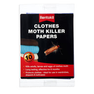Clothes Moth Killer Papers (10 Sheets)