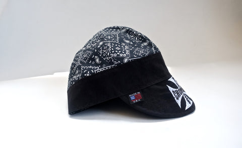WCC OG Cross Black Paisley Welding Cap