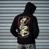 JJFU Skelly Snake Zip Hoody - Black